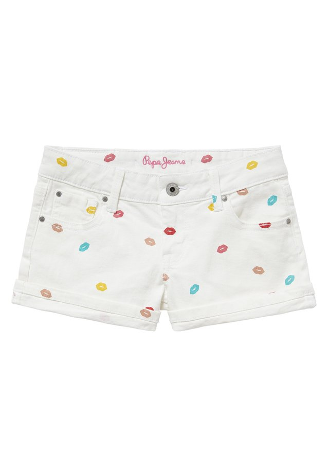 FOXTAIL KISS - Jeans Shorts - blanco