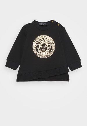 DRESS MEDUSA LAMINA PRINT WITH GREEK - Day dress - black/gold