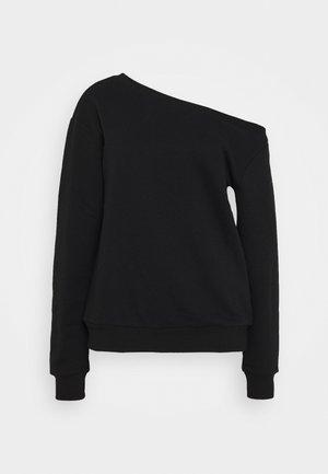 Off Shoulder Sweatshirt - Sweatshirt - black