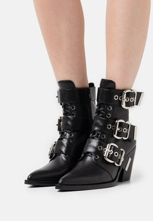 CACERES CLOSED - Lace-up ankle boots - black