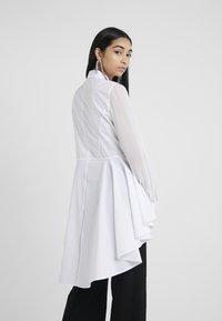 KARL LAGERFELD - POPLIN PEPLUM - Button-down blouse - white - 2