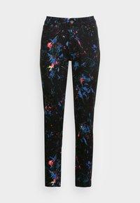 Desigual - PANT SPLATTER - Slim fit jeans - black - 3