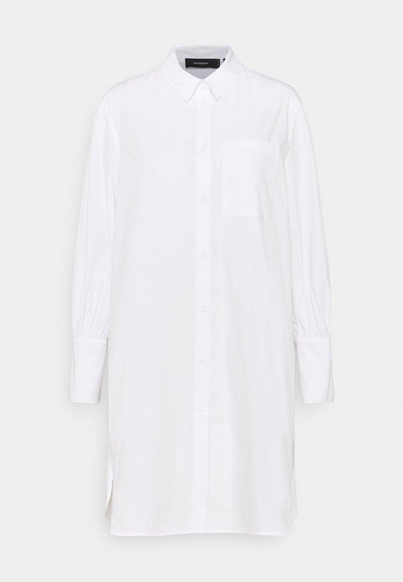 NU-IN - KIRA X NU - IN LONG LINE SHIRT DRESS - Shirt dress - white