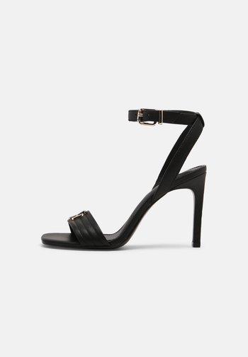 TOMMY PADDED HIGH HEELED SANDALS - Sandaler med høye hæler - black