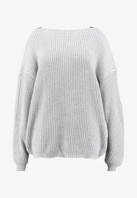 Glamorous Curve - TRIM JUMPER - Strikkegenser - light grey - 3
