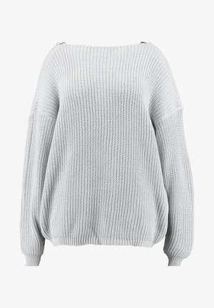 TRIM JUMPER - Stickad tröja - light grey