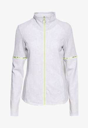 ONPALYSSA ZIP TALL - Sudadera con cremallera - white melange/safety yellow