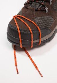 Hi-Tec - STORM WP - Chaussures de marche - dark chocolate/dark taupe/burnt orange - 5