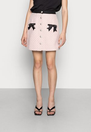 SECRET GARDEN TWEED MINI SKIRT - Mini skirt - pink