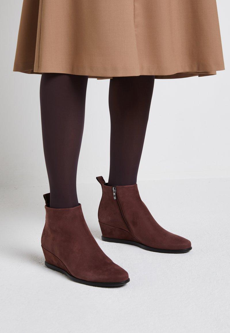 ECCO - SHAPE WEDGE - Ankle boot - bordeaux