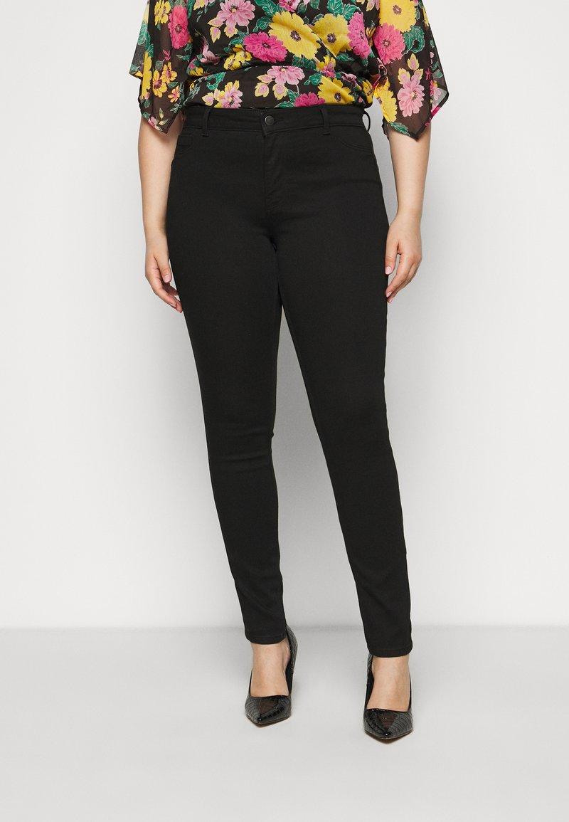Pieces Curve - SHAPE UP SAGE - Jeans Skinny Fit - black