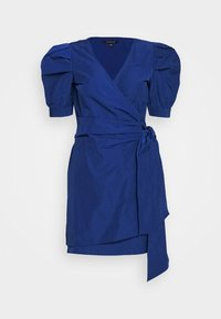 Who What Wear - THE PUFF WRAP DRESS - Kjole - navy - 4