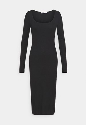 ROUND NECK DRESS - Robe longue - black