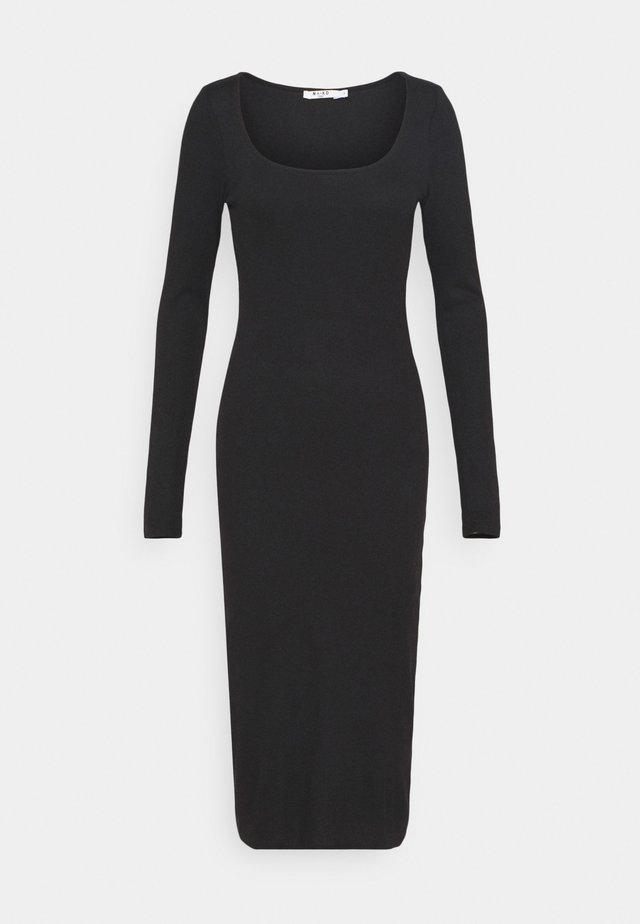 ROUND NECK DRESS - Maxi-jurk - black