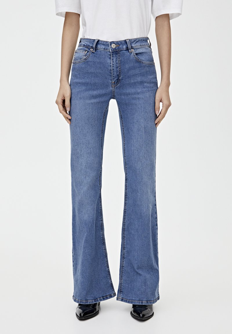 PULL&BEAR - Flared jeans - blue