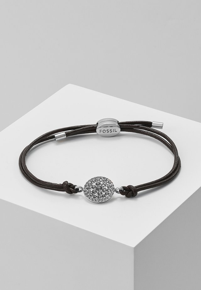 Bracelet - silver-coloured/braun