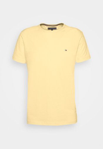 STRETCH SLIM FIT TEE - T-shirt basic - delicate yellow