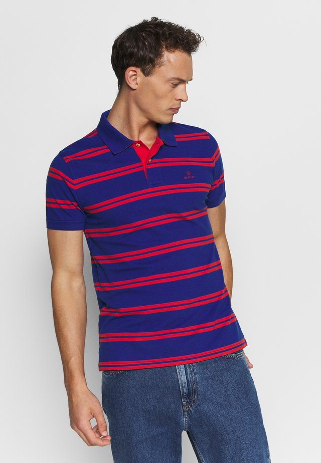 CONTRAST STRIPE COLLAR - Polo shirt - crisp blue