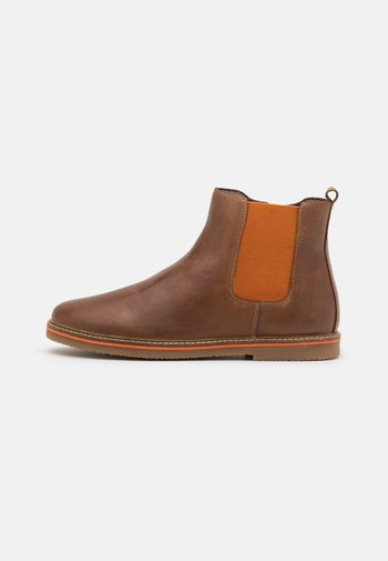 LEATHER - Classic ankle boots - dark brown