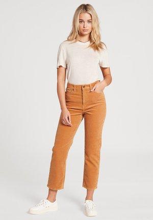 Straight leg jeans - camel