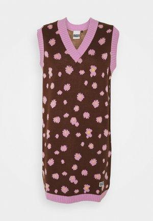 GRIT DRESS - Jumper dress - brown/purple