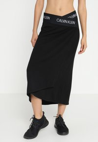 Calvin Klein Performance - MIDI SKIRT - Urheiluhame - black - 0
