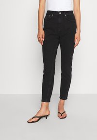 NA-KD - MOM  - Jeans Tapered Fit - black - 0