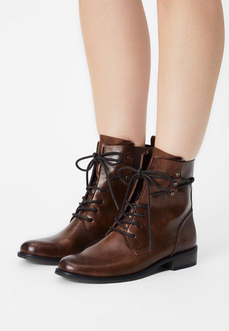 Marco Tozzi - Lace-up ankle boots - cognac