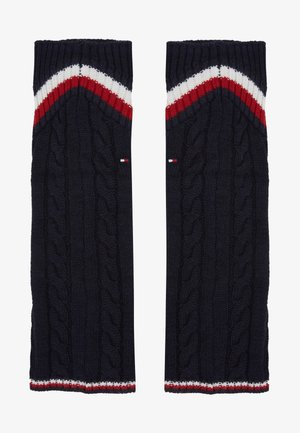 LEG WARMERS CABLE - Leg warmers - navy