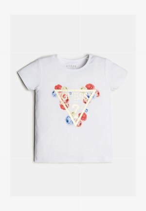 LOGO TRIANGLE PAILLETTES - T-shirt con stampa - blanc