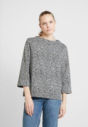 LEO - Stickad tröja - black/white