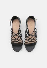Anna Field - LEATHER - High heeled sandals - black - 5