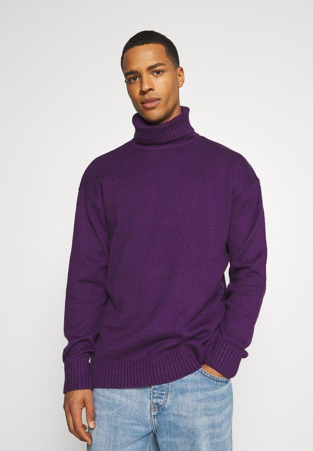 UNISEX  - Stickad tröja - purple