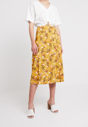 A-line skirt - yellow/black