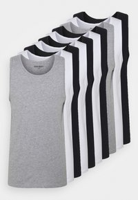 10 PACK - Top - black/white/light grey melange