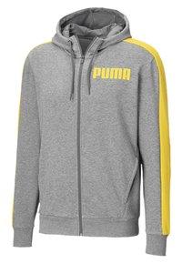 Puma - Zip-up hoodie - medium gray heather - 0