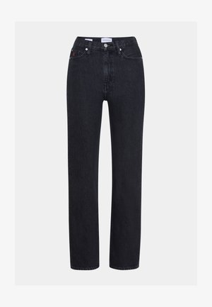 HIGH RISE STRAIGHT - Jeans Straight Leg - denim black