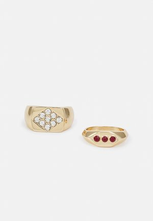 SQUARE SIGNET 2 PACK - Ring - gold-coloured