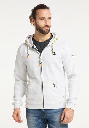 Zip-up sweatshirt - wollweiss melange