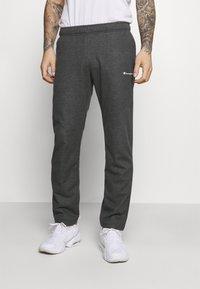 Champion - STRAIGHT HEM PANTS - Tracksuit bottoms - mottled dark grey - 0