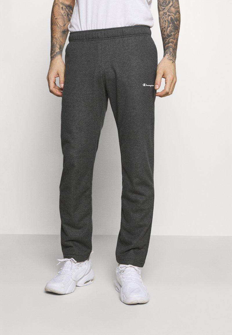Champion - STRAIGHT HEM PANTS - Tracksuit bottoms - mottled dark grey