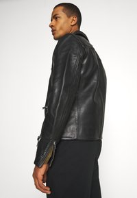 AllSaints - CLAY JACKET - Leather jacket - black - 3