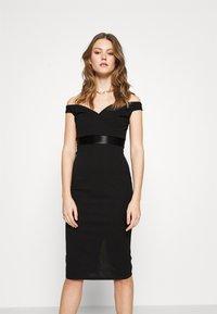 WAL G. - RYLIE BAND MIDI DRESS - Sukienka koktajlowa - black - 0