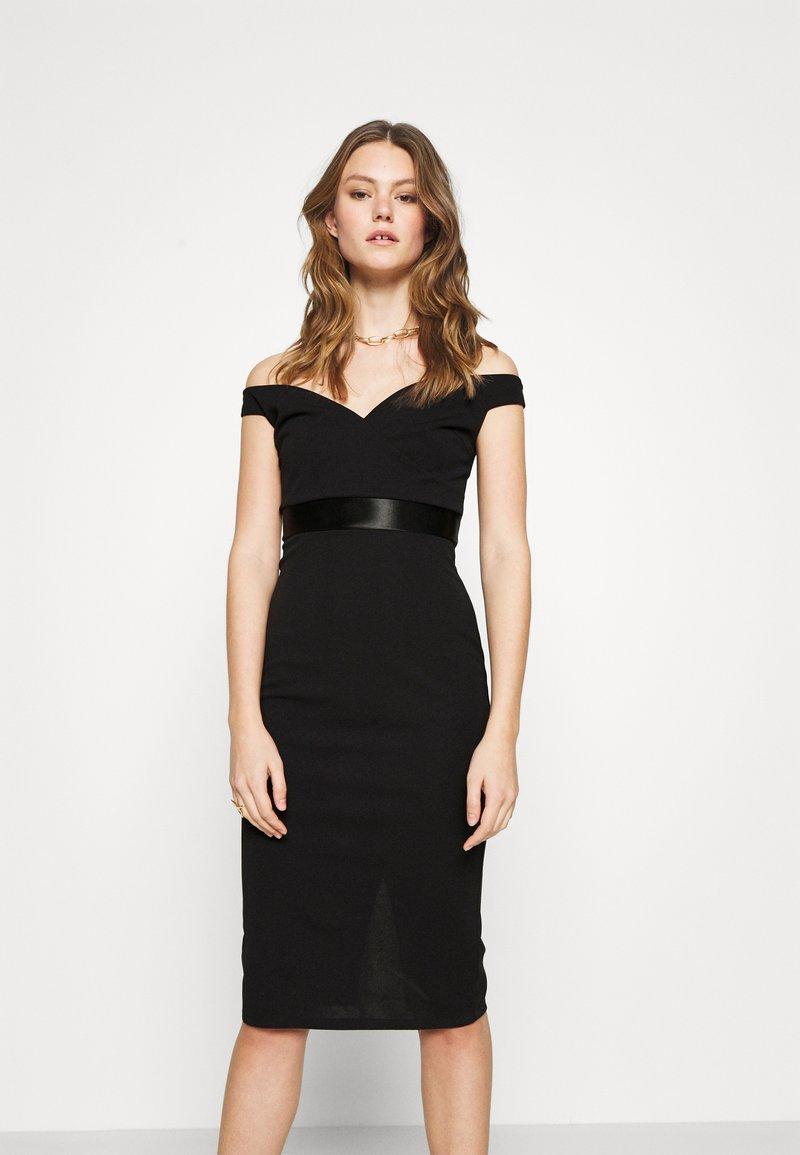 WAL G. - RYLIE BAND MIDI DRESS - Sukienka koktajlowa - black