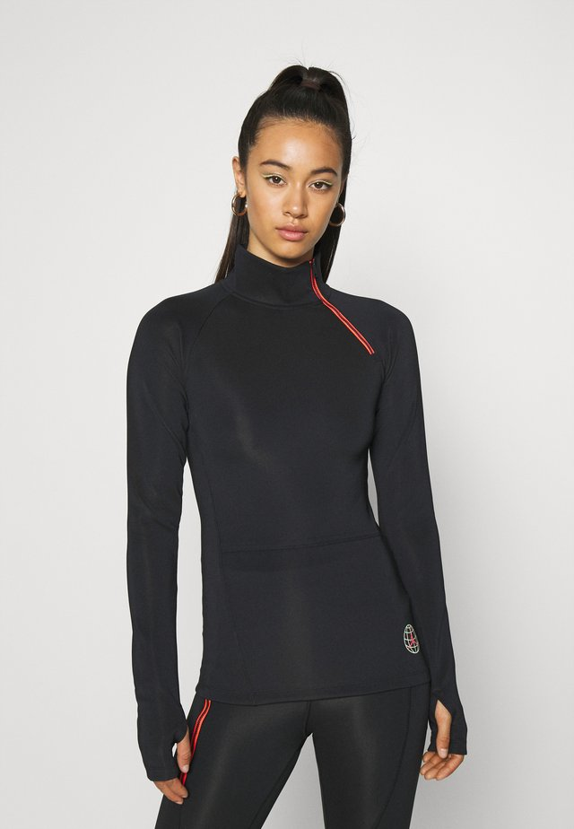 NOVELTY  - Long sleeved top - black