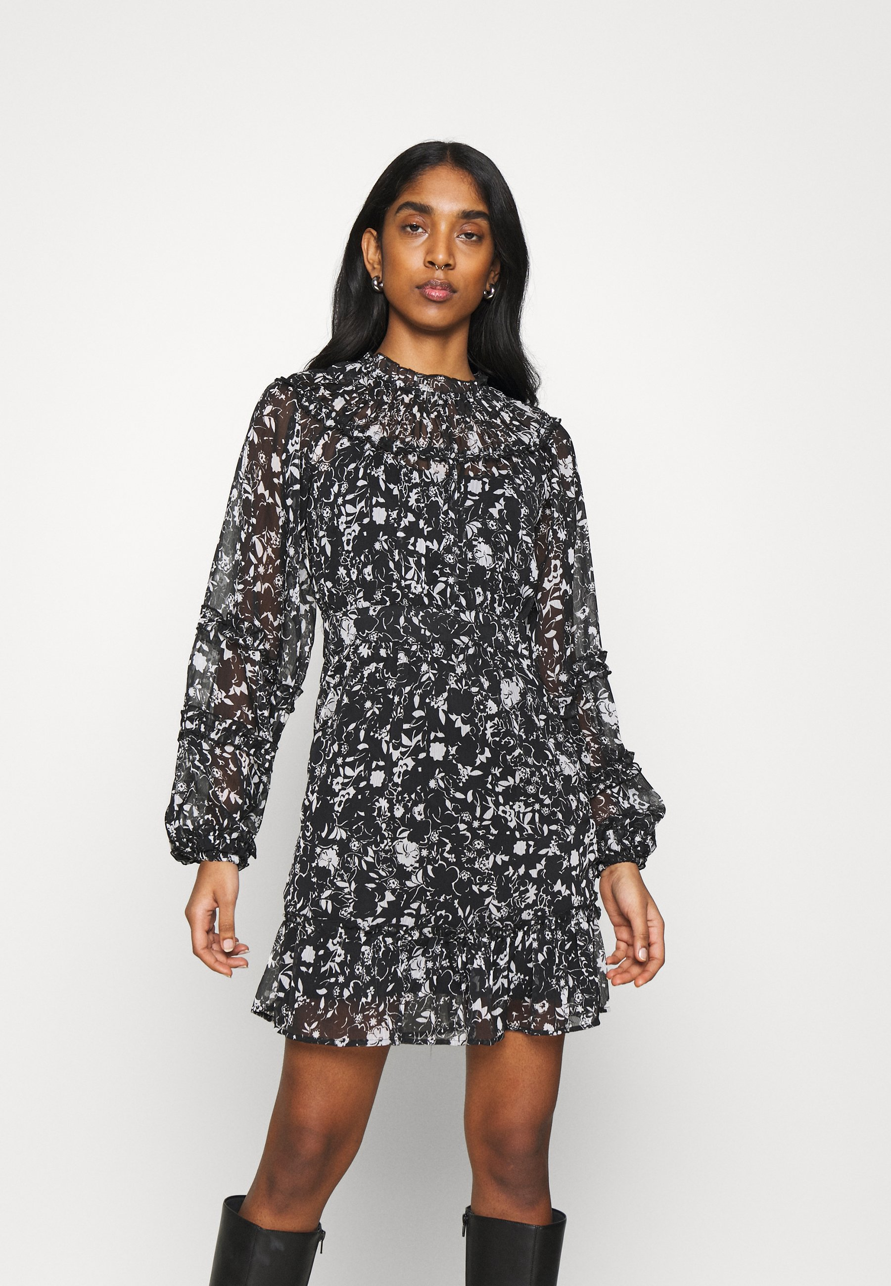 Women RUFFLE DETAIL MINI - Day dress