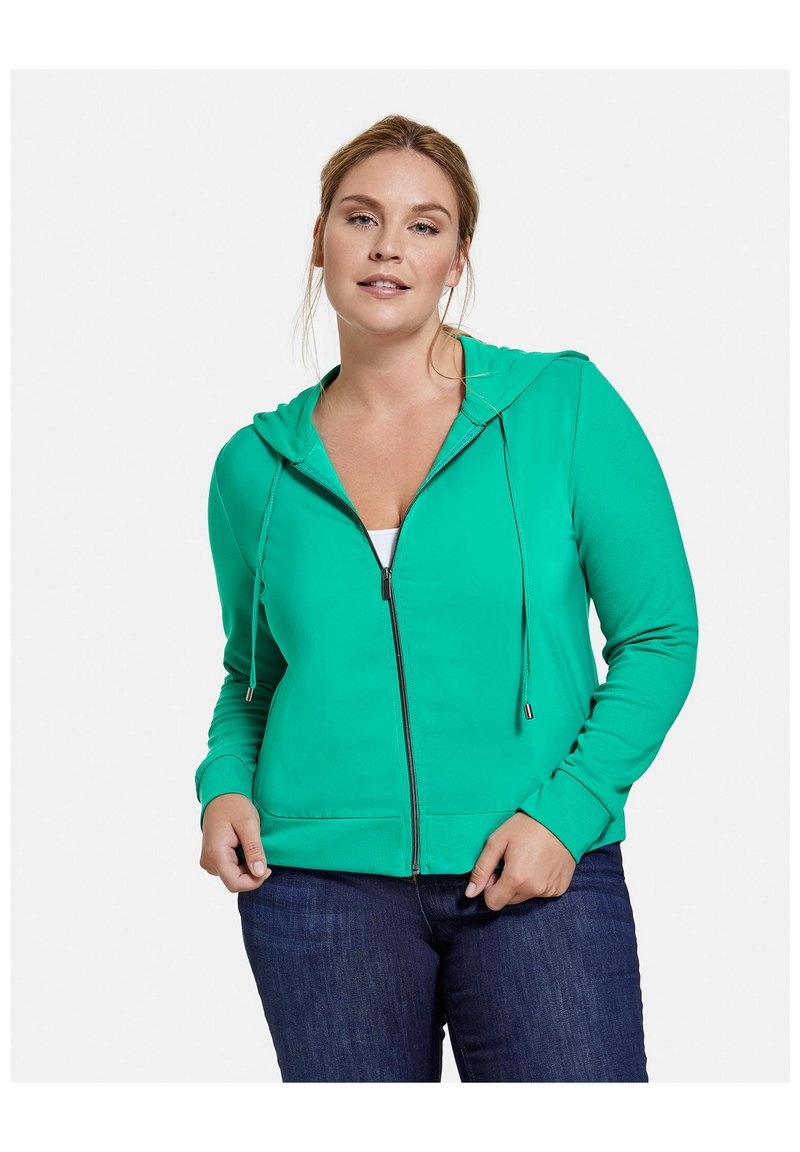 Samoon - Zip-up sweatshirt - electric green