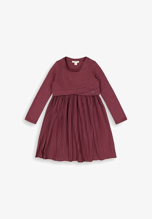 MIT PLISSEE - Jersey dress - plum red