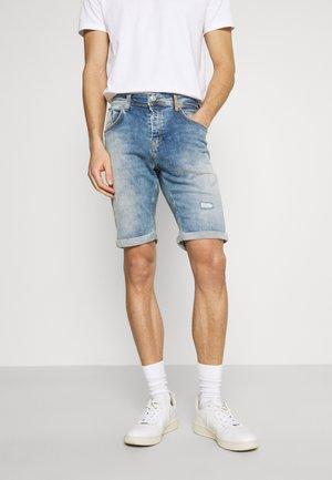 CORVIN - Shorts di jeans - storm blue wash