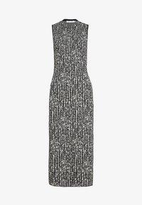 DOT SLEEVELESS DRESS - Shift dress - black/ecru